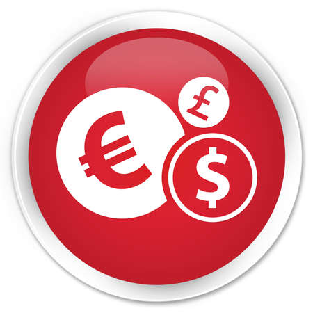 icon red: Finances icon red glossy round button