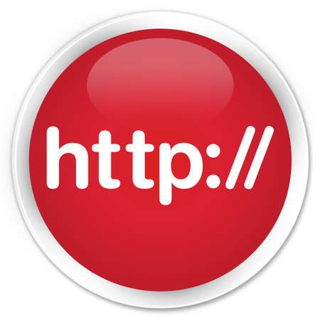 http: Http red glossy round button