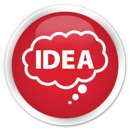 suggestion: Idea bubble icon red glossy round button