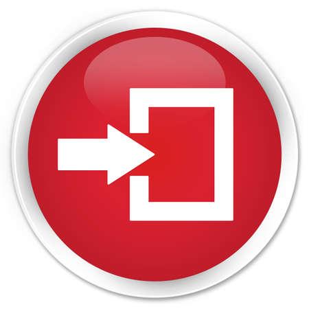 login icon: Login icon red glossy round button Stock Photo