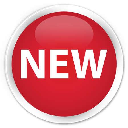 round button: New red glossy round button