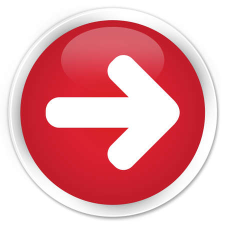 icon red: Next arrow icon red glossy round button Stock Photo