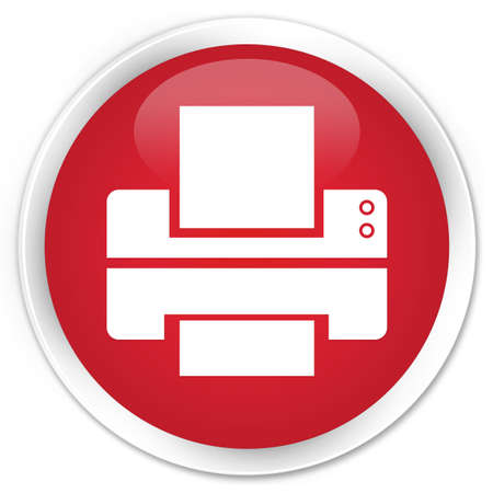 multifunction printer: Printer icon red glossy round button