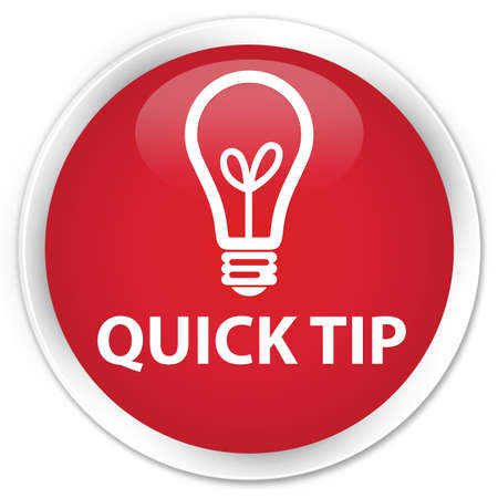 quick: Quick tip (bulb icon) red glossy round button