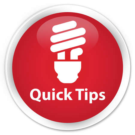 quick: Quick tips (bulb icon) red glossy round button