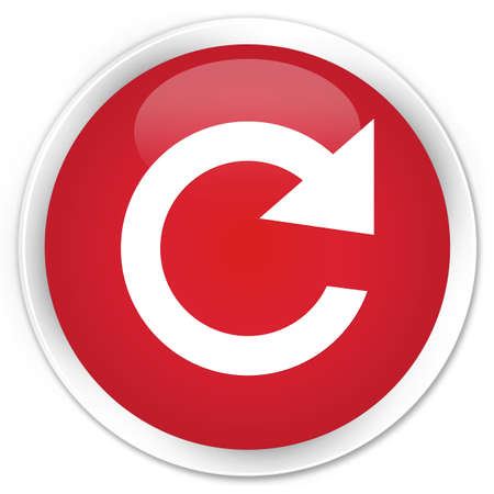 reply: Reply rotate icon red glossy round button