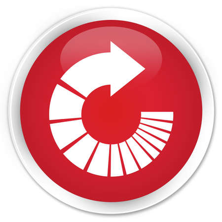 rotate: Rotate arrow icon red glossy round button Stock Photo