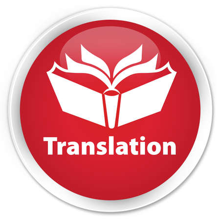 Translation red glossy round button
