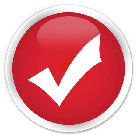 validation: Validation icon red glossy round button