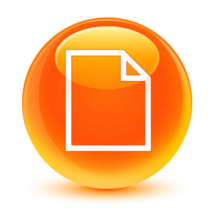 blank page: Blank page icon glassy orange button Stock Photo