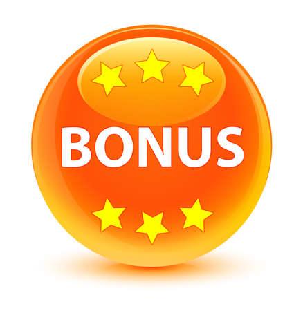 Bonus glassy orange button