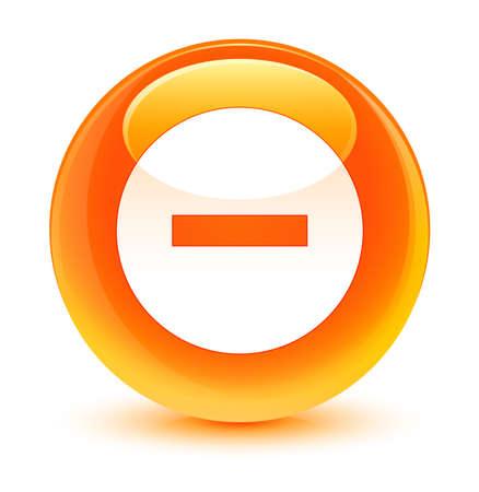 Cancel icon glassy orange button