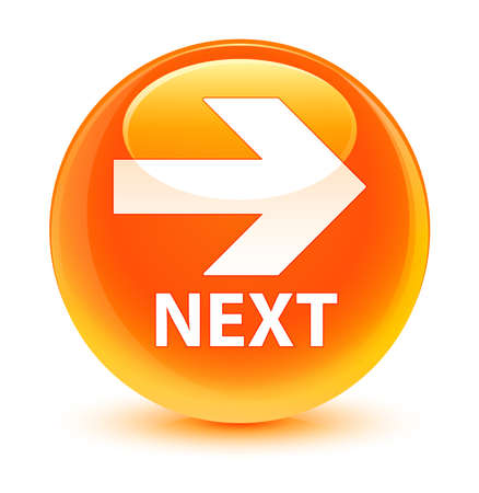 move ahead: Next glassy orange button
