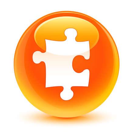 plugin: Puzzle icon glassy orange button