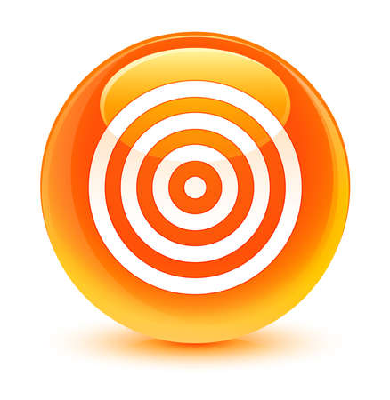 bullseye: Target icon glassy orange button