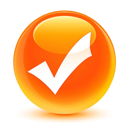validation: Validation icon glassy orange button