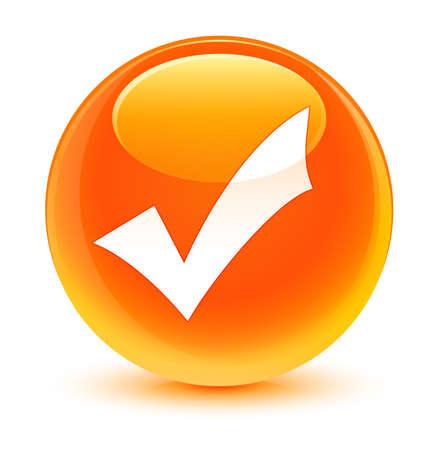 validation: Validation icon glassy orange button