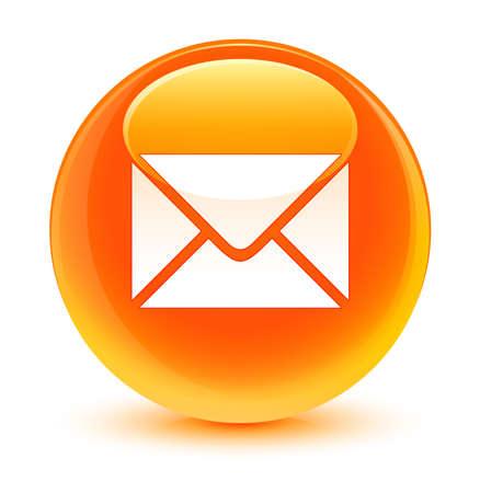 flysheet: Email icon glassy orange button