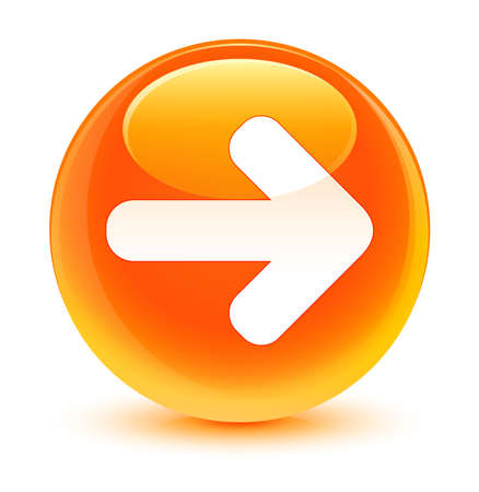 move ahead: Next arrow icon glassy orange button