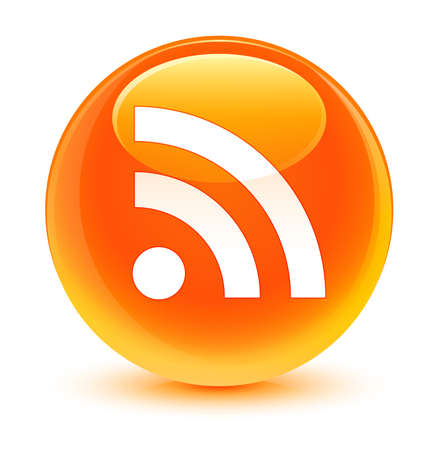 rss icon: RSS icon glassy orange button