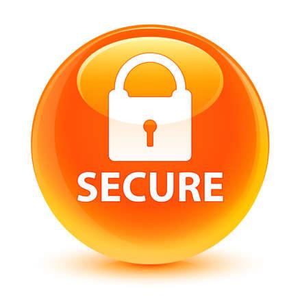 key hole shape: Secure glassy orange button