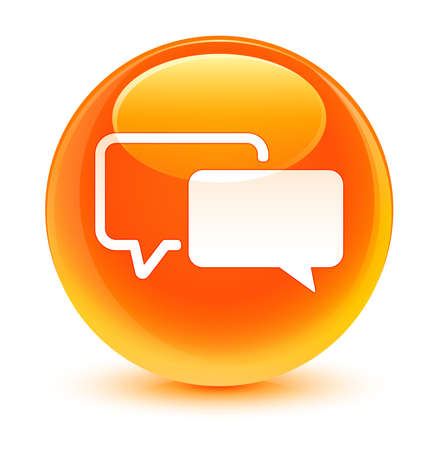 testimonials: Testimonials icon glassy orange button