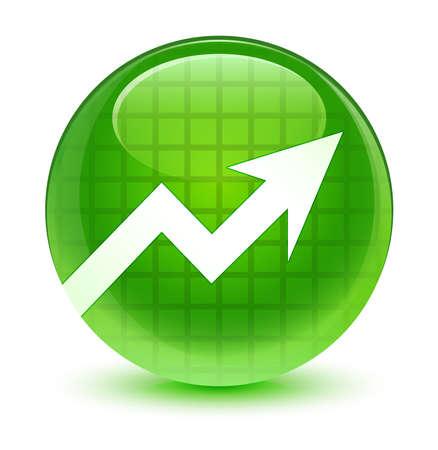 Business icon glassy green button photo