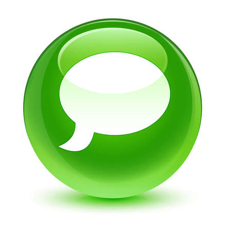 green button: Chat icon glassy green button