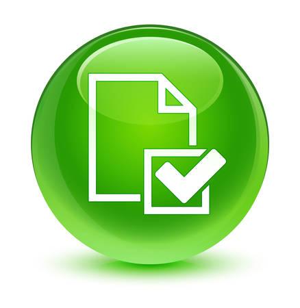 valid: Checklist icon glassy green button