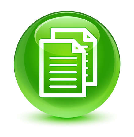 green button: Documents icon glassy green button