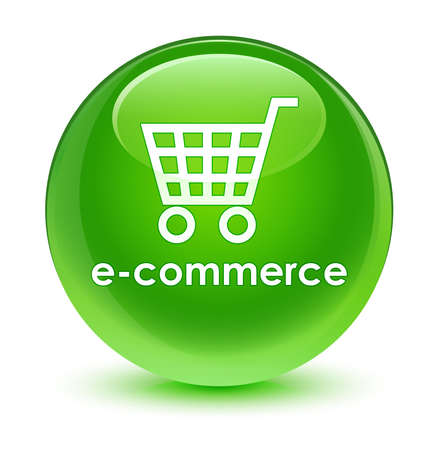 green button: Ecommerce glassy green button