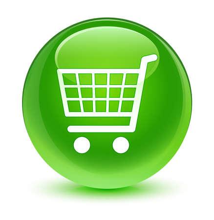 green button: Ecommerce icon glassy green button