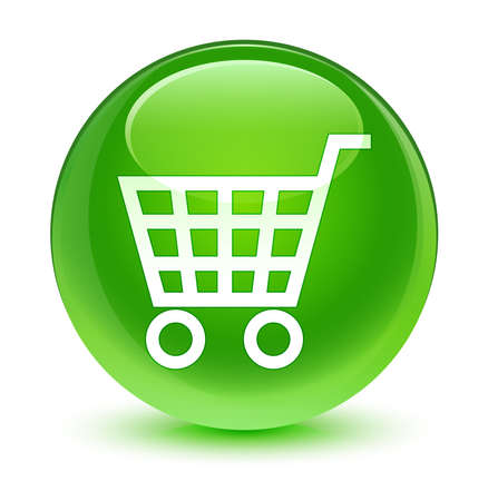 green button: Ecommerce icon glassy green button