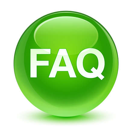 FAQ glassy green button