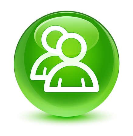groupware: Icono Grupo bot�n verde vidrioso