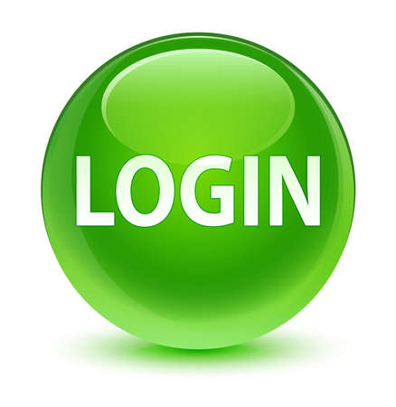 green button: Login glassy green button