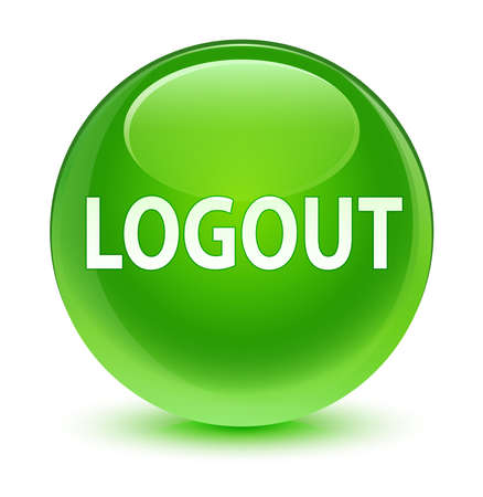 logout: Logout glassy green button