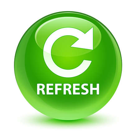 Refresh glassy green button