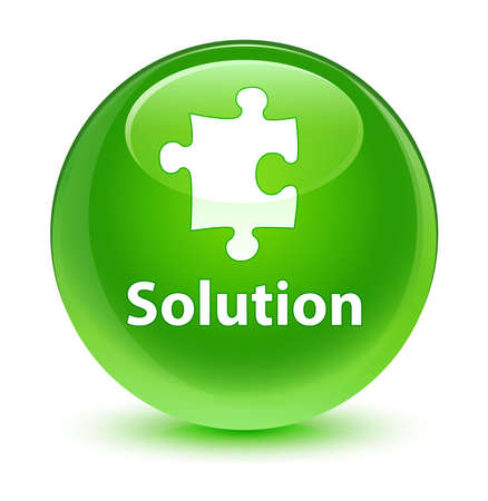 green button: Solution glassy green button