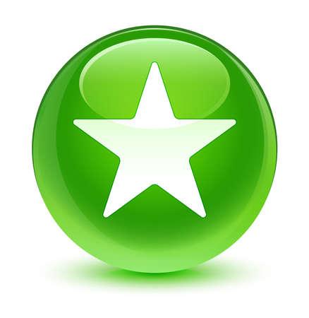 green button: Star icon glassy green button