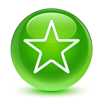 green button: Star icon glassy green button
