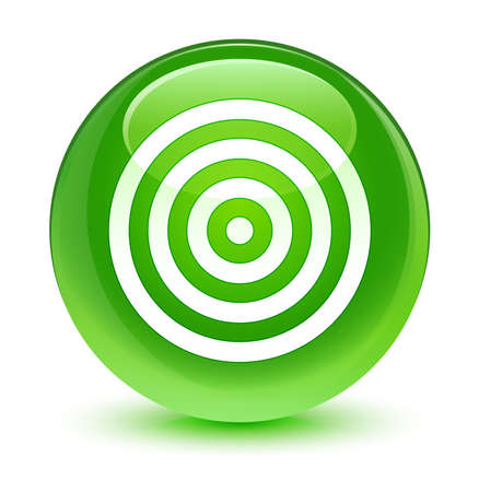 green button: Target icon glassy green button