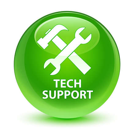 green button: Tech support (tools icon) glassy green button