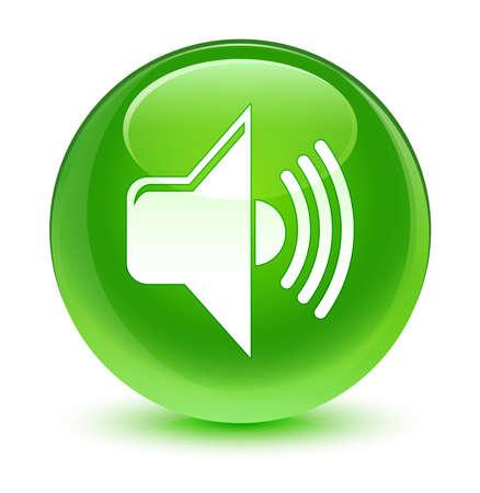 green button: Volume icon glassy green button