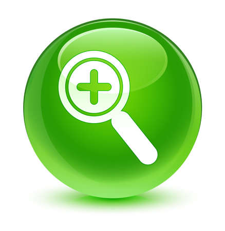 zoom in: Zoom in icon glassy green button Stock Photo