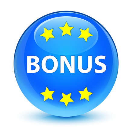 blue button: Bonus glassy blue button