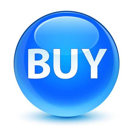 blue button: BUY glassy blue button