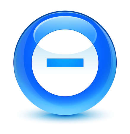 Cancel icon glassy blue button photo