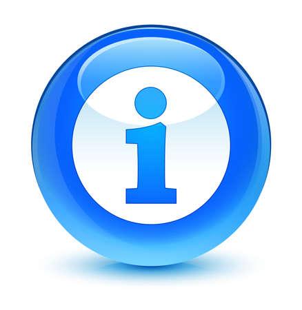 blue button: Info icon glassy blue button Stock Photo