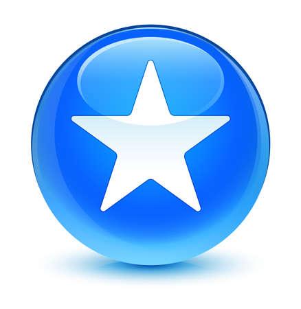 blue button: Star icon glassy blue button